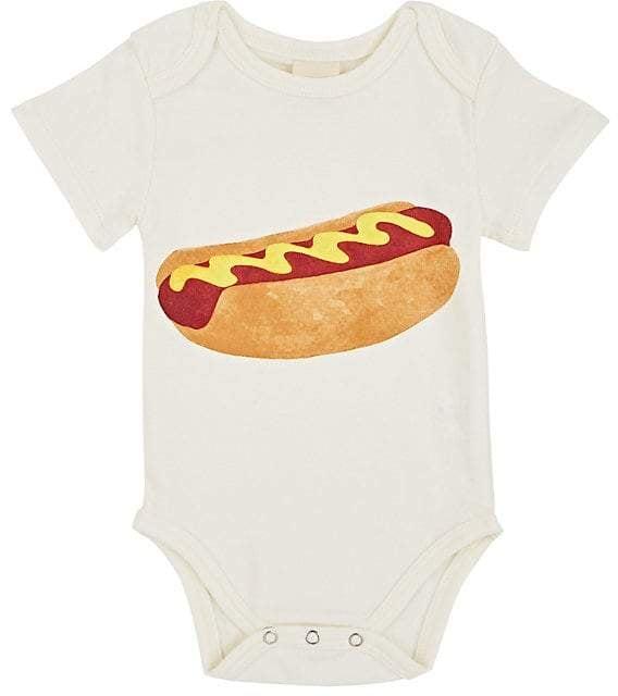 Estella Kids' Hot-Dog-Print Cotton Bodysuit
