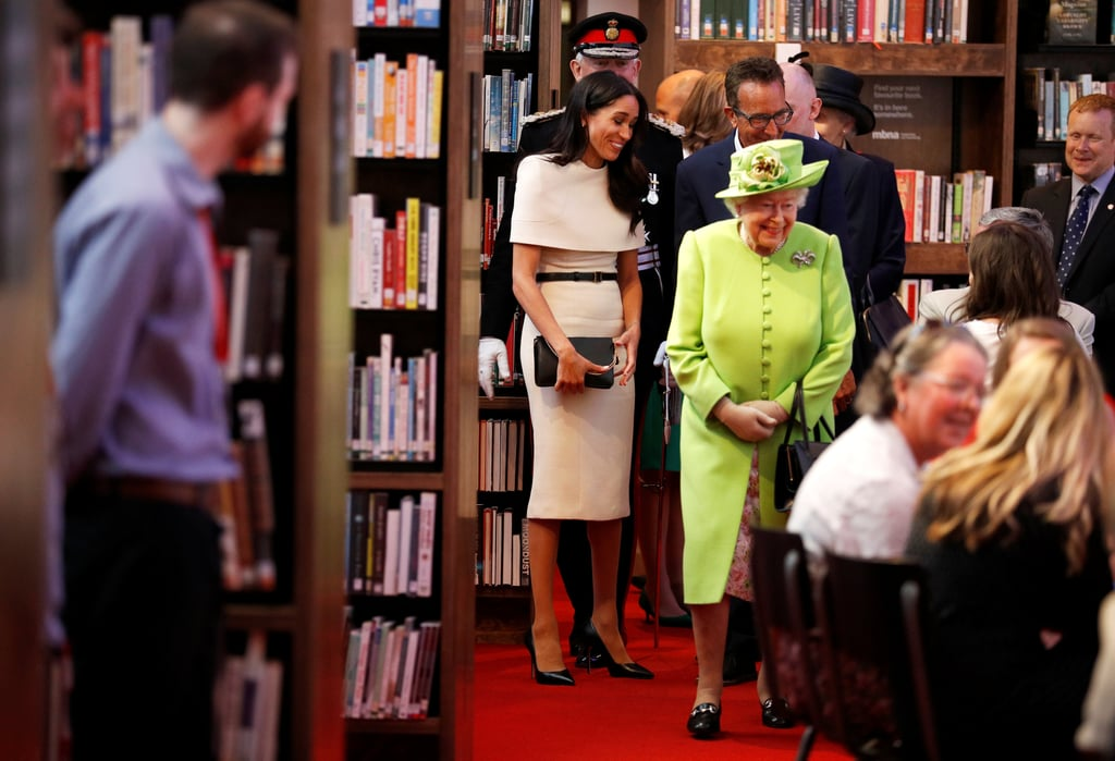 المشاركة الأولى لميغان مع الملكة