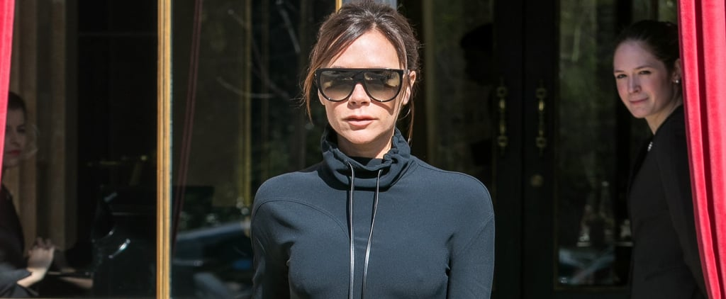 Victoria Beckham Black Hoodie Dress