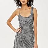 Topshop Drape Sequin Mini Dress