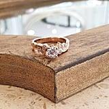 Moissanite Engagement 14k Rose Gold Ring