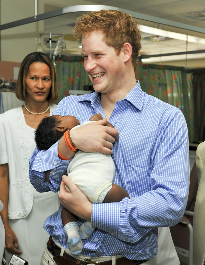 When He Held a Baby at Queen Elizabeth ll Hospital