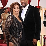 Common's mom, Dr. Mahalia Hines, was on hand to see her son win the Oscar for best original song.