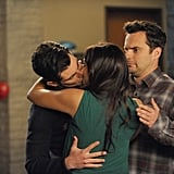 New Girl — Schmidt and Cece (and Nick, lol)