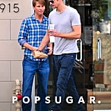 Jack McBrayer and Alexander Skarsgard hung out in LA.