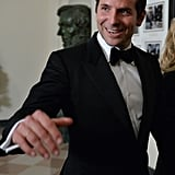 Bradley Cooper was one of the many guests who speak French.
