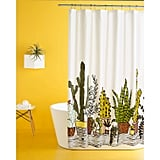 Plants Print Shower Curtain