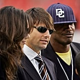 In 2006, Katie joined Tom and Jamie at a Washington Redskins game.