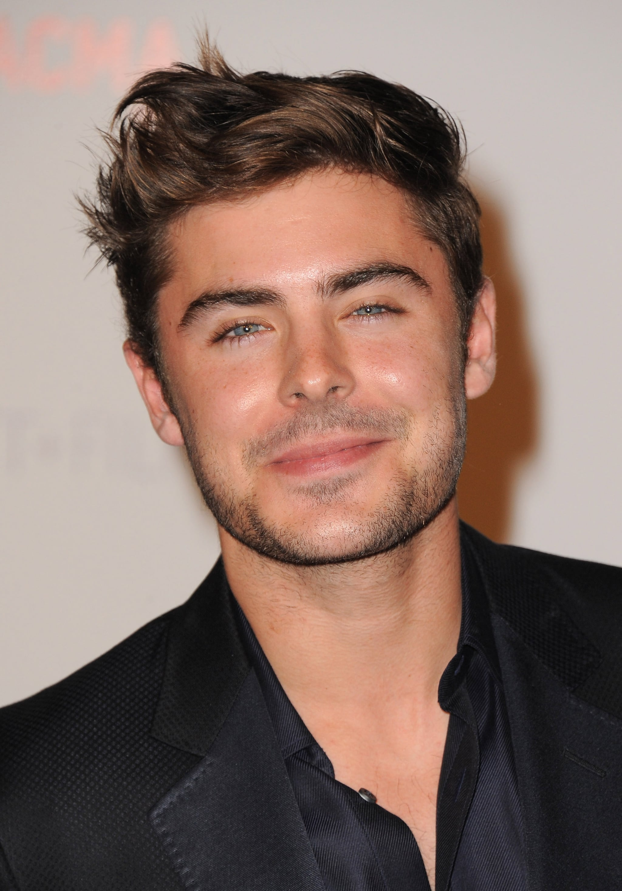 Zac Efron at a LACMA bash.