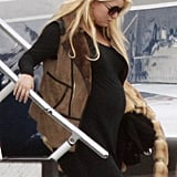 Jessica Simpson returns to LA after the Super Bowl.