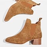Topshop Barley Suede Heeled Boots