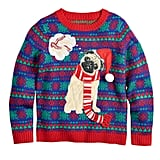 Pug Holiday Dreams Sweater