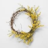 Faux Crespedia Wreath