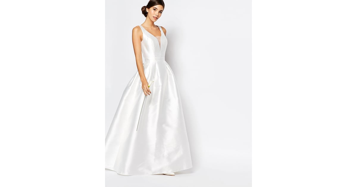 Chi Chi London Bridal Maxi Dress With Plunge Neck And