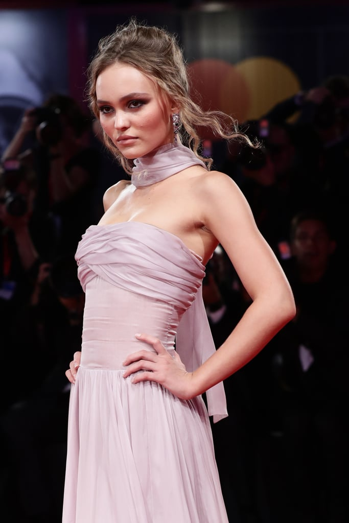 Lily-Rose Depp at The King Premiere