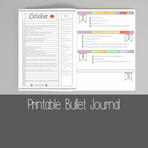 graphic relating to Printable Bullet Journal Pages identified as Printable Bullet Magazine Webpages Bullet Magazine Procuring
