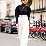 Ruffled High-Waist Trousers
