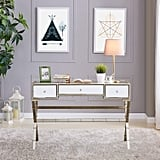 Southern Enterprises Lienz Hollywood Regency Mirrored Console Table
