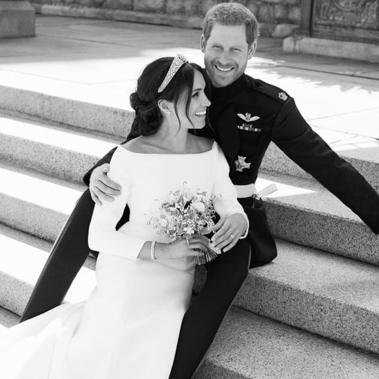 Prince Harry and Meghan Markle Laughing in Wedding Photo
