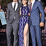 Robert, Kristen, and Taylor greeted fans.