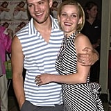 Ryan accompanied Reese to the Southampton screening of Legally Blonde in July 2001.