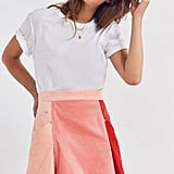 BDG Colorblock Corduroy Mini Skirt