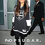 Pia Toscano was decked out in LA Kings gear to sing the national anthem at the Stanley Cup final game.