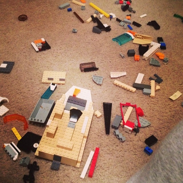 A Floor Full of Legos