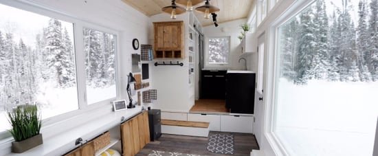 Ana White's Tiny House With Elevator Bed