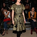 Leigh Lezark opted for one of Cynthia Rowley's intricate laser-cut creations from the designer's Spring '12 collection.