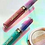 "Tarte's waterproof liquid lipsticks are now available in two limited-edition shades — Festival (nude mauve) and Fairytale (mint) — with ""fantasy glam"" packaging (as described on the website).  Tarte Limited-Edition Tarteist Quick Dry Matte Lip Paint ($20) in Festival and Fairytale (left to right)"