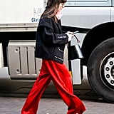 Red Silk Trousers