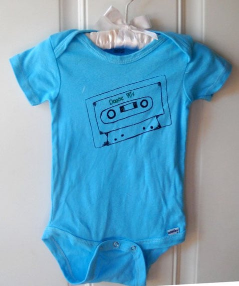 Dance Mix Cassette Tape Romper