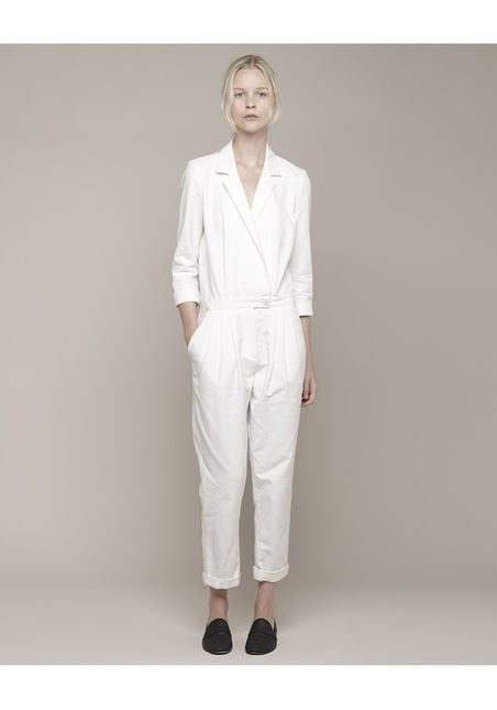 My hunt for the perfect Summer jumpsuit has come to an end thanks to this Boy by Band of Outsiders ($850) rendition. Between the chic wrap front detail to the crisp white hue, I can already picture myself wearing this 24/7. — Chi Diem Chau
