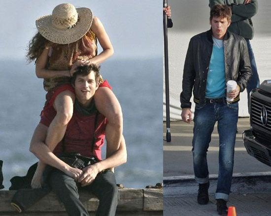 Ashton Kutcher Filming Spread in LA