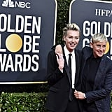 Portia de Rossi and Ellen DeGeneres at the 2020 Golden Globes