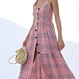 UO Positano Linen Tie-Shoulder Midi Dress