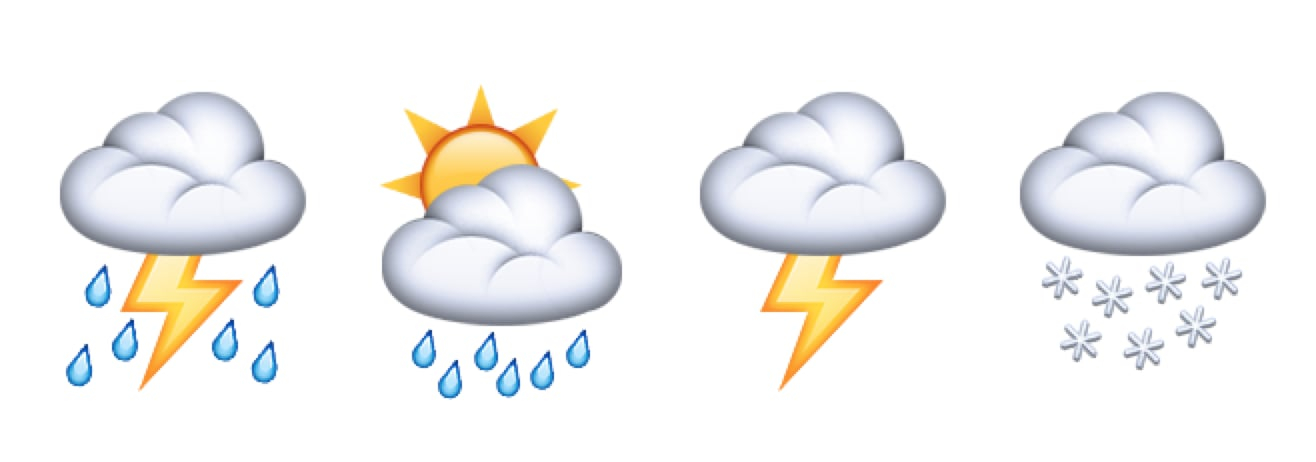 New cloud emoji for all your weather-related needs | The