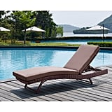 South Beach Brown Wicker Rattan Sun Lounger