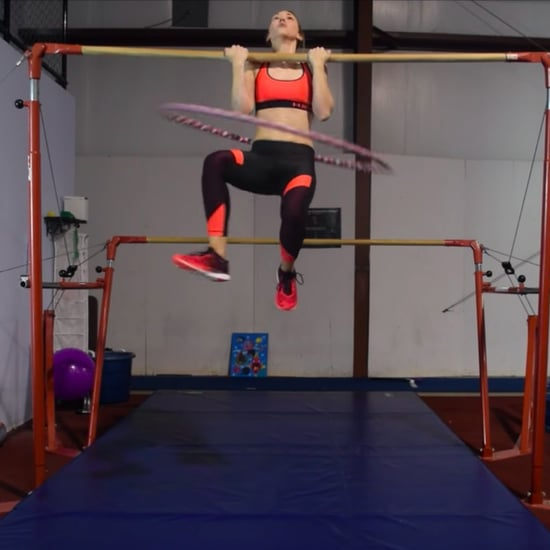 Woman's Hula-Hooping Chin-Ups World Record Attempt