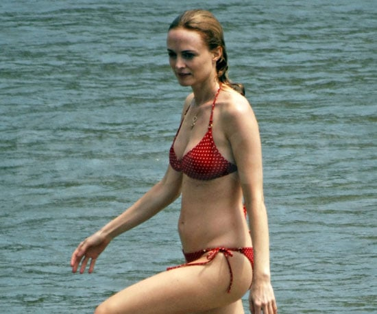 Slide Photo of Heather Graham in a Bikini in Sitges Spain