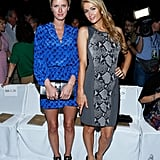 Nicky and Paris Hilton posed together at the Diane von Furstenberg show on Sunday.