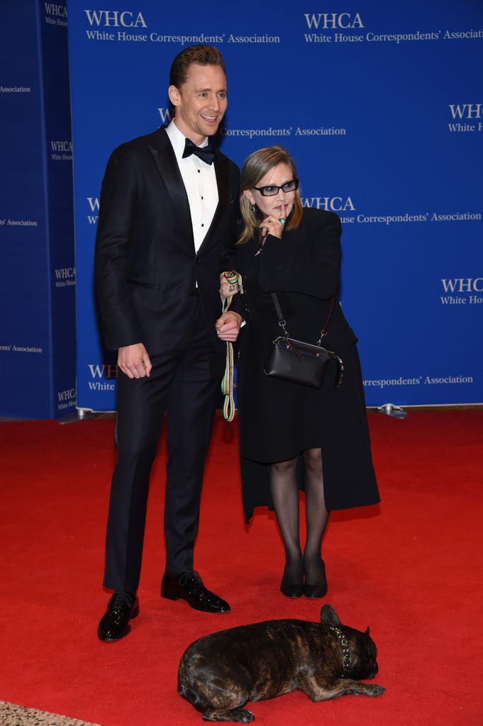 Carrie Fisher at the White House Correspondents' Dinner 2016