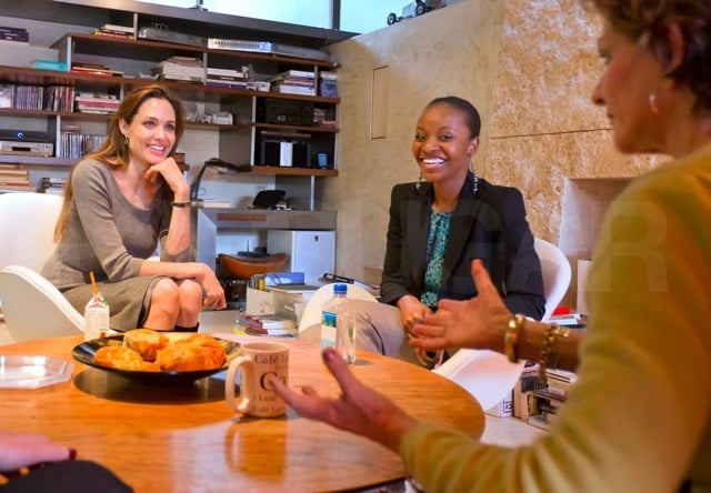 Pictures of Angelina Jolie With the SOS Children's Villages First Legal Fellow Nathalie Nozile