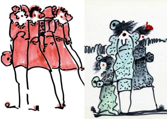 Sketches by Sonia Rykiel