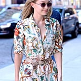 Gigi Hadid's Brown Mules June 2018