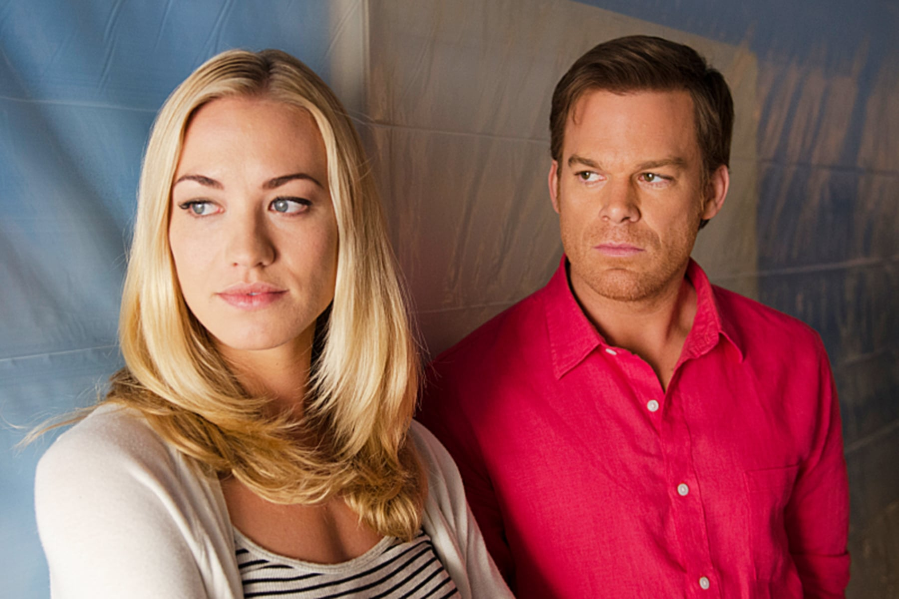 DEXTER, l-r: Yvonne Strahovski, Michael C. Hall in 'Are We There Yet?' (Season 8, Episode 8, aired August 18, 2013). ph: Randy Tepper/Showtime/courtesy Everett Collection