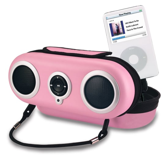 Cotton Candy Colored iHome19 iPod Speakers