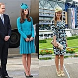 In a Brilliant Teal Dress With a Chic Hat