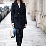 With a Long Blazer and Ankle Boots